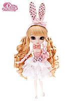 Кукла шарнирная Пуллип Бонни Кроличья вечеринка с аксессуарами, плюшевым зайцем, подставкой 31см - Pullip