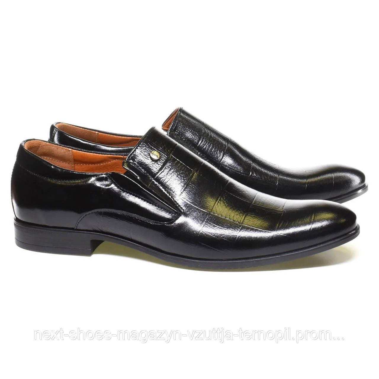 Чоловічі туфлі TAPI (Польща) чорного кольору. Ідеально підходять під класичний костюм. код: 34739