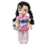 Коллекционная Игровая Кукла для девочек Мулан в детстве с песиком Дисней, 40 см, винил - Mulan, Disney