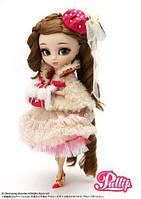 Кукла Коллекционная шарнирная Пуллип Нанетт с муфтой, сумочкой, аксессуарами, подставкой, 31 см - Pullip