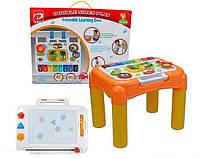 Детский Развивающий Многофункциональный столик 6 в 1, съемная панель, магн. доска, размер 33х41х31 арт. 6955