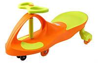 *Детская машинка Бибикар с двухцветным корпусом, Smart Сar New, размер машинки 80х30х42 см, оранжевого цвета