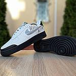 Чоловічі кросівки Nike Air Force 1' 07 РЕФЛЕКТИВ (біло-чорні) 1912, фото 4