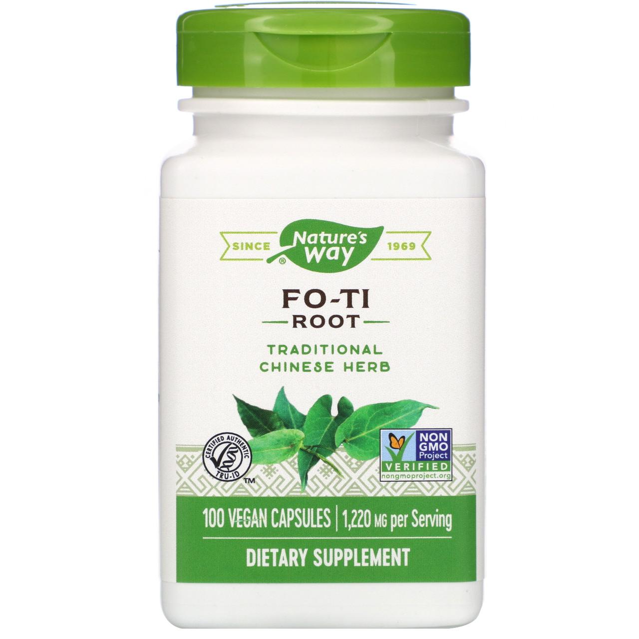 "Корень горца многоцветкового Nature's Way ""Fo-Ti Root"" 1220 мг (100 капсул)"