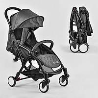 """Детская прогулочная компактная коляска (подстаканник, чехол, корзина) (тип """"Yoya"""") темно-серая арт. 3310"""