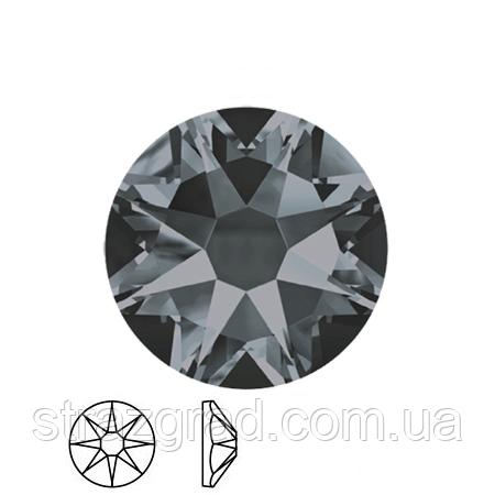 Термо стразы копия SWAROVSKI XIRIUS 16 граней (8+8) BLACK DIAMOND SS20 Hot Fix 1440 шт.