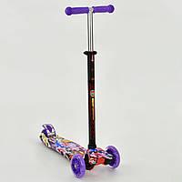 Детский Самокат для детей от 2х лет 3-х колесный, свет. колеса, ABEC-7, руль 63-86 см, Best Scooter, арт. 1313