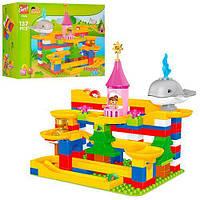 Детский Игровой Развивающий Конструктор для малышей Аквапарк 137 деталей с шариками и фигурками, арт. 1045