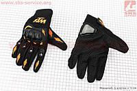 Перчатки мотоциклетные XL-черно/оранжевые
