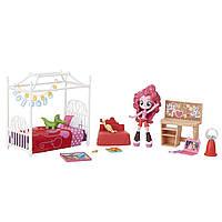 Моя Маленькая Пони Спальня Пинки Пай(черно-кр) MLP Equestria Girls Minis Pinkie Pie Slumber Party Bedroom Set