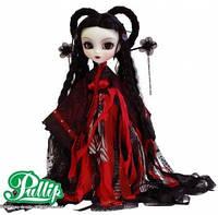 Кукла Коллекционная шарнирная Пуллип Мир в готическом наряде, с иероглифом дракона в зрачке,  31 см - Pullip