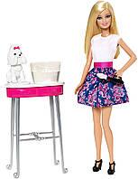 Кукольный набор Барби серия с питомцами, парикмахерский салон для щенка Barbie PlaySet