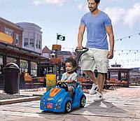 Детская Каталка Толокар Машинка Хот Вилс с родительской ручкой, 88х110 х47 см, Hot Wheels Push Around Racer