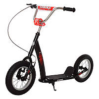 Самокат для детей и взрослыхScooter с ручным тормозом (ЧЕРНЫЙ) арт. 2-047-B