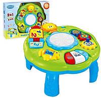 Детский Развивающий Игровой Стол, свет. и звук. эффекты, зеркало, барабан, можно крепить к кроватке арт. 1082