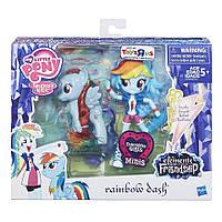 Моя Маленькая Пони Рейнбоу Деш пони и кукла MLP Elements of Friendship Rainbow Dash Pony and Doll Set