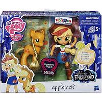Моя Маленькая Пони Эпплджек минис пони и кукла MLP Elements of Friendship Applejack Pony and Doll Set
