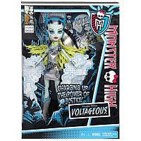 Кукла Монстер Хай Френки Штейн Супергерой Monster High Frankie Stein Power Ghouls