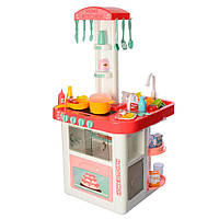 Детский Игровой Набор Кухня с водой, бытовой техникой, посудой, продуктами Home Kitchen КОРАЛЛОВАЯ арт. 889-59