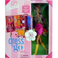Коллекционный Игровой набор для девочек Шкаф для куклы Барби с одеждой и 30 аксессуарами 2001 года выпуска