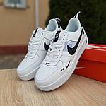 Жіночі кросівки Nike Air Force 1 LV8 (біло-чорні) 20036, фото 6