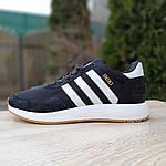 Мужские кроссовки Adidas Iniki (черно/белые) 10045, фото 2
