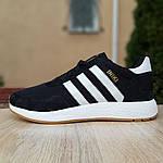 Мужские кроссовки Adidas Iniki (черно/белые) 10045, фото 3