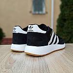 Мужские кроссовки Adidas Iniki (черно/белые) 10045, фото 4