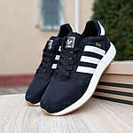 Мужские кроссовки Adidas Iniki (черно/белые) 10045, фото 6