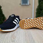 Мужские кроссовки Adidas Iniki (черно/белые) 10045, фото 7