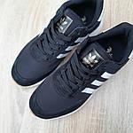 Мужские кроссовки Adidas Iniki (черно/белые) 10045, фото 8
