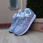 Женские замшевые кроссовки New Balance 574 (серо-голубые) 20032, фото 8