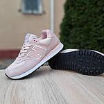 Женские замшевые кроссовки New Balance 574 (пудровые) 20034, фото 7