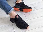Мужские кроссовки Adidas (черно-оранжевые) 9167, фото 4