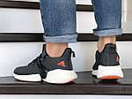 Мужские кроссовки Adidas (серые) 9168, фото 4