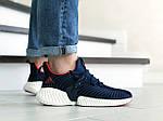 Мужские кроссовки Adidas (темно-синие с белым) 9169, фото 3