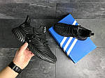 Мужские кроссовки Adidas (черные) 9172, фото 4