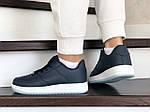 Женские кожаные кроссовки Force (темно-синие) 9177, фото 2
