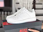 Жіночі шкіряні кросівки Force (білі) 9180, фото 2