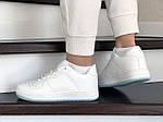 Жіночі шкіряні кросівки Force (білі) 9180, фото 3