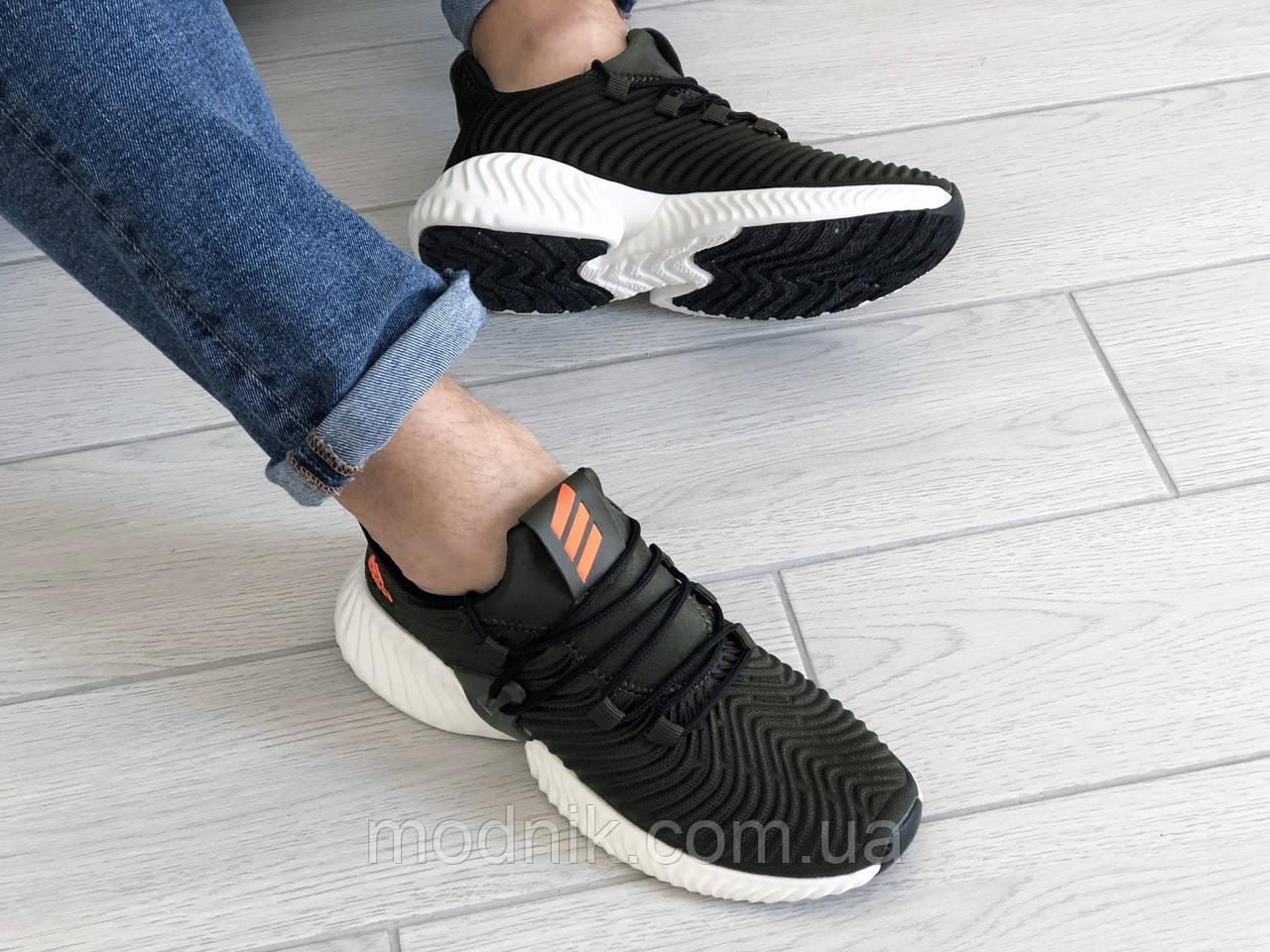 Мужские кроссовки Adidas (темно-зеленые) 9166