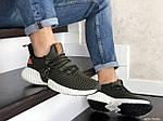 Мужские кроссовки Adidas (темно-зеленые) 9166, фото 4