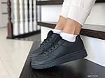 Женские кожаные кроссовки Force (черные) 9178, фото 4