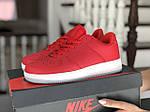 Женские кожаные кроссовки Force (красные) 9179, фото 2