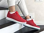 Женские кожаные кроссовки Force (красные) 9179, фото 4