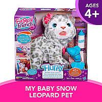 Детская Интерактивная Игрушка Снежный леопард Флурри питомец с погремушкой и бутылочкой - FurReal Friends Hasbro