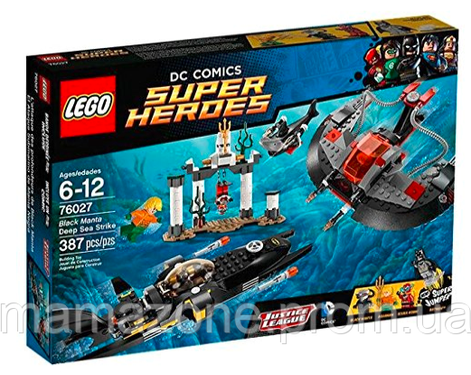 Купить LEGO Super Heroes 76027 Black Manta Deep Sea Strike Подводный удар Чёрного Манты