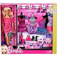 Игровой Набор для девочек Барби Модный Гардероб стильные наряды, обувь и аксессуары, 2012 года - Barbie PlaySet