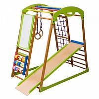 Детский спортивный комплекс-уголок для дома и квартиры, сетка, горка, кольца, рукоход 130х85х132 см BWP
