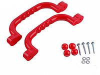 Ручки пластиковые разноцветные для детских площадок, комплект 2 шт